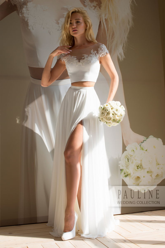 288650c4d1d Свадебный кроп - топ и юбка, комплекты - трансформеры для невесты